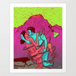 Lava love Art Print