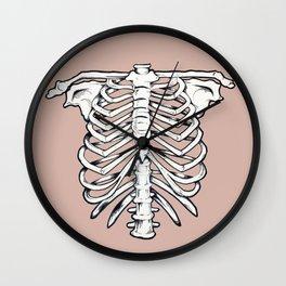 rib illustration tattoo design Wall Clock