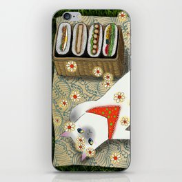Cat Going for a Picnic series 3 iPhone Skin