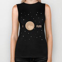 I Heart Pluto Biker Tank