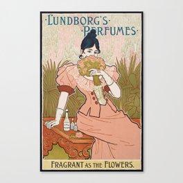 Victorian Era Perfume Ad Canvas Print