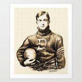 Vintage Football Art Print