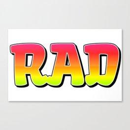 RAD 90s Canvas Print