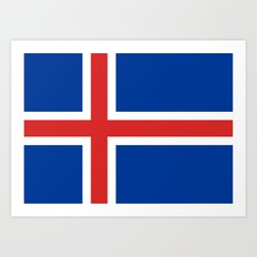 National flag of Iceland Art Print