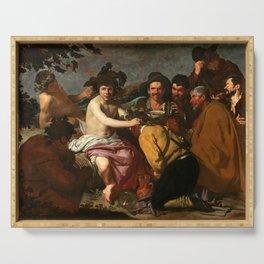 """Diego Velázquez """"The Triumph of Bacchus (El Triunfo de Baco o Los Borrachos)"""" Serving Tray"""
