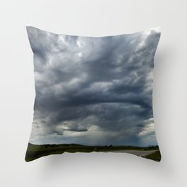 Storm Cell in Montana Throw Pillow