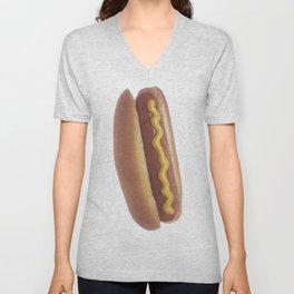 Hot Dog with Mustard Unisex V-Neck