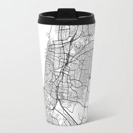 Tel Aviv Map White Travel Mug