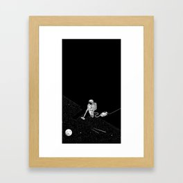 cleaning the space Framed Art Print