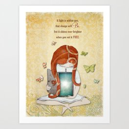 Light within you Art Print