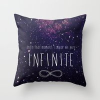 infinite Throw Pillows featuring Infinite by Enyalie