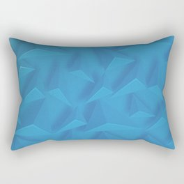 Blue Geometric Background Rectangular Pillow