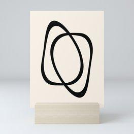 Interlocking Two A - Minimalist Line Abstract Mini Art Print
