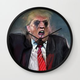Donald Trump Fascist At The Pulpit Screaming Wall Clock