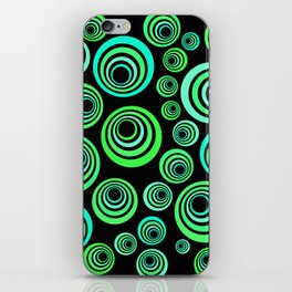 Neon blue and green iPhone Skin