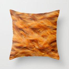 Iron water stream Throw Pillow