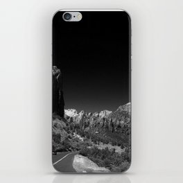 Zion Park View in B&W iPhone Skin