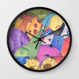 Too crowded Wall Clock