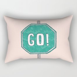 Go! Rectangular Pillow