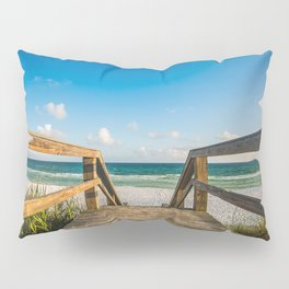 Head to the Beach - Boardwalk Leads to Summer Fun in Florida Pillow Sham
