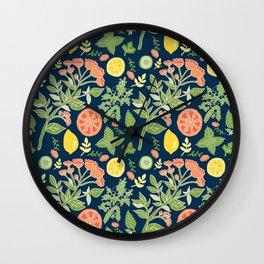 Gin and Tonic Pattern Wall Clock