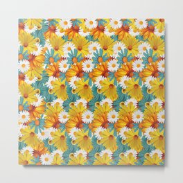 multi flower Metal Print