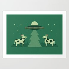 Merry Abduction Art Print