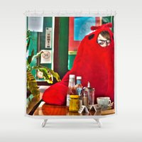 lobster Shower Curtains featuring Lobster by Suzi Corker