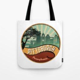 Pittsburgh City Skyline Pennsylvania Retro Vintage Design Tote Bag
