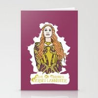 lannister Stationery Cards featuring Cersei by JessicaJaneIllustration