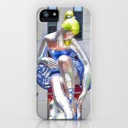 Seated Ballerina at Rockefeller Center 2 iPhone Case