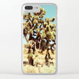 Joshua Trees in the California Desert Clear iPhone Case