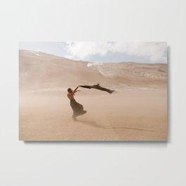 desert dust storm Metal Print