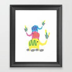 Elephants Framed Art Print