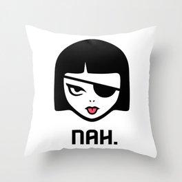 Patchy Says Nah. Throw Pillow