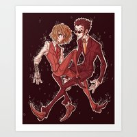 suits Art Prints featuring suits by vvisti