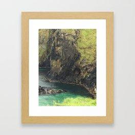 View From Carrick Rope Bridge Framed Art Print