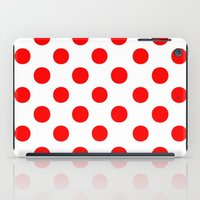 polka iPad Cases featuring Polka Dots (Red/White) by 10813 Apparel