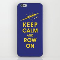 rowing iPhone & iPod Skins featuring Keep Calm and Row On (For the Love of Rowing) by KeepCalmShop
