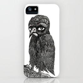 Morbid bird iPhone Case