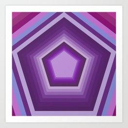 Mystic Purple Pentagon Abstract Art Art Print