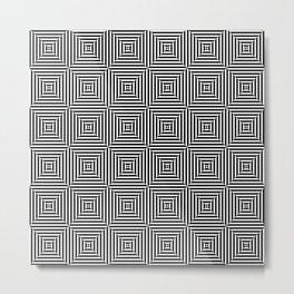 Dizzy Zebra Thoughts Metal Print