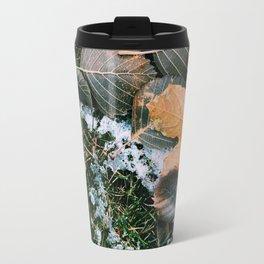 Autumn leaves in winter Travel Mug