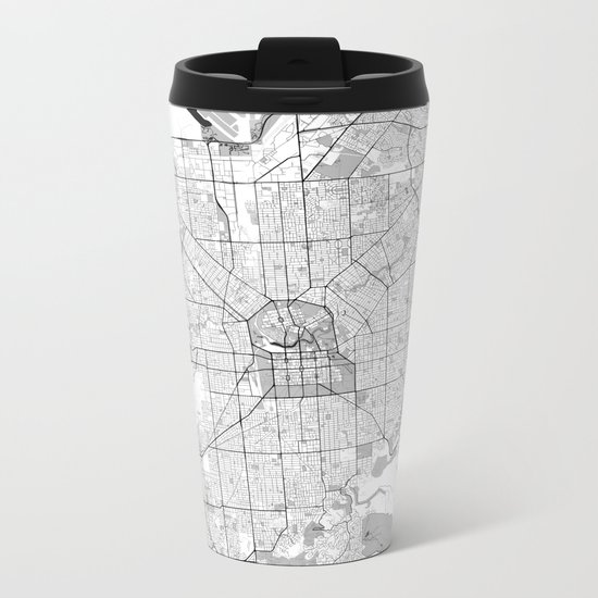 Adelaide Map Blue Vintage Metal Travel Mug