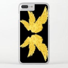 Golden Archangel Wings Clear iPhone Case
