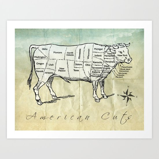 American Cuts Art Print
