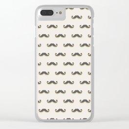 Mustitch (Pattern) Clear iPhone Case