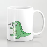 dino Mugs featuring DINO by luisa.veloso