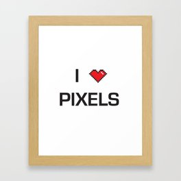 I heart Pixels Framed Art Print