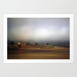 Tuscan Landscape #3. Between Florence and Rome. Art Print